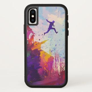 Parkour Urban Free Running Freestyling Modern Art iPhone X Case
