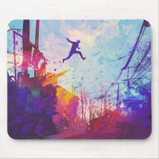 Parkour Urban Free Running Mouse Pad