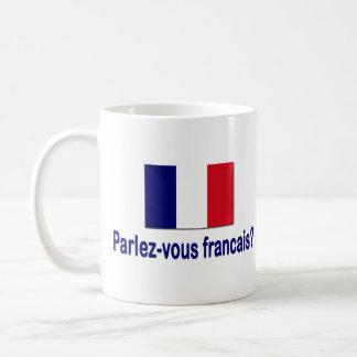 Parlez-vous francais? basic white mug