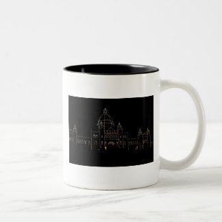 Parliament Buildings at Night Two-Tone Coffee Mug