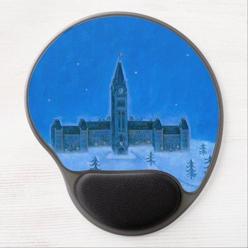 Parliament Buildings Ottawa Christmas Gel Mousepad