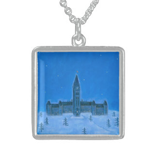 Parliament Buildings Ottawa Christmas Custom Necklace