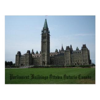 Parliament Buildings Ottawa Ontario Canada Postcard