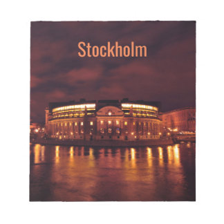Parliament House in Stockholm, Sweden Notepad