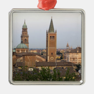 Parma city center; Battistero church on the Silver-Colored Square Decoration