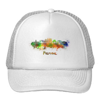 Parma skyline in watercolor cap