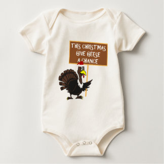 Parody give peace a chance baby bodysuit