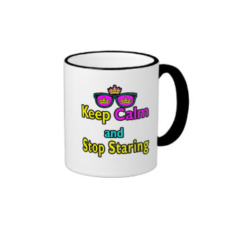 Parody Hipster Keep Calm And Stop Staring Coffee Mug