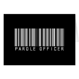 Parole Officer Bar Code Card