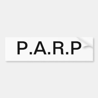 Parp Bumper sticker Car Bumper Sticker