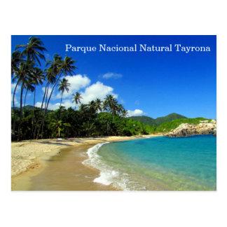 parque nacional natural tayrona postcard