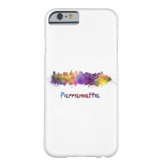 Parramatta skyline in watercolor barely there iPhone 6 case