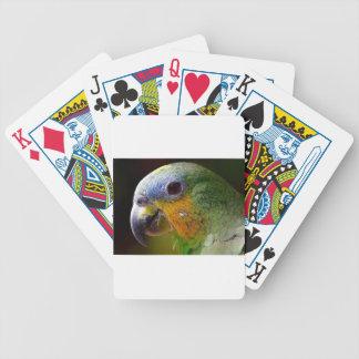 Parrot Amazon Animals Bird Green Exotic Bird Bicycle Playing Cards