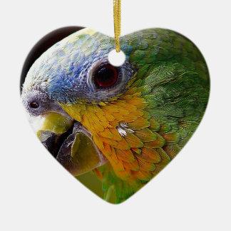 Parrot Amazon Animals Bird Green Exotic Bird Ceramic Ornament