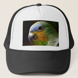 Parrot Amazon Animals Bird Green Exotic Bird Trucker Hat