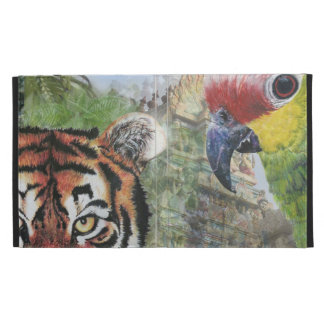 Parrot and tiger iPad case