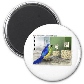 Parrot Bathroom Fixtures Funny Cartoon Gifts Fridge Magnets