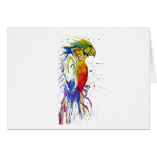 Parrot Budgie Bird Card