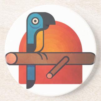 Parrot cartoon art coaster