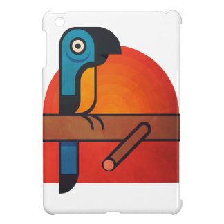 Parrot cartoon art iPad mini cover