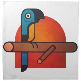 Parrot cartoon art napkin
