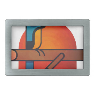 Parrot cartoon art rectangular belt buckle