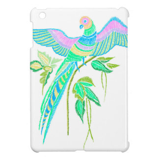 Parrot embroidery cover for the iPad mini