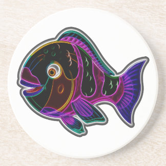 Parrot fish beverage coasters