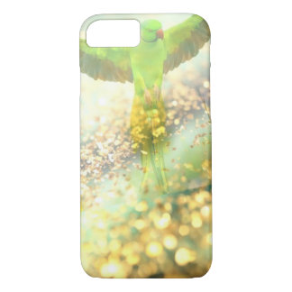 parrot flying in golden jungle iPhone 7 case