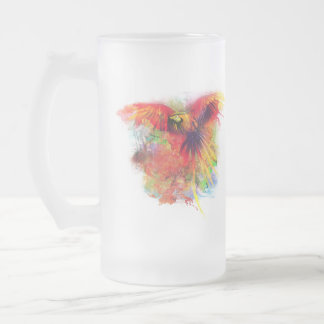 Parrot Frosted Glass Beer Mug