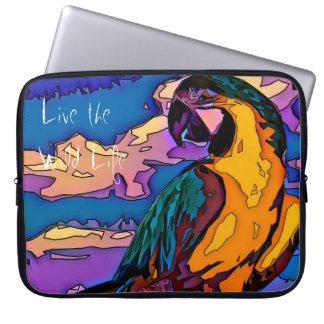 Parrot - Live the Wild Life / Laptop Sleeve