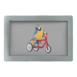 Parrot Macaw on Tricycle bike Belt Buckles