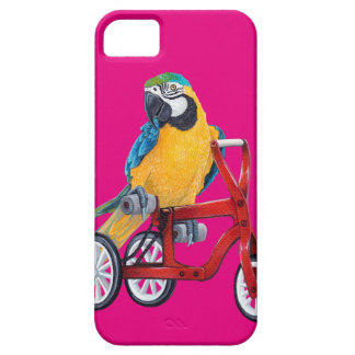 Parrot Macaw on Tricycle bike Case For The iPhone 5