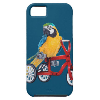 Parrot Macaw on Tricycle bike iPhone 5 Covers