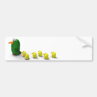 Parrot mom and chicks bumper sticker