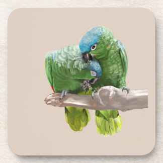 Parrot Pair Beverage Coasters
