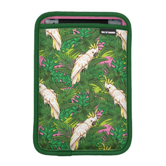 Parrot Pattern With Palm Leaves iPad Mini Sleeve