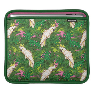 Parrot Pattern With Palm Leaves iPad Sleeve