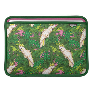 Parrot Pattern With Palm Leaves MacBook Air Sleeves