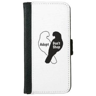 Parrot Rescue Adoption Don't Shop iPhone 6 Wallet Case