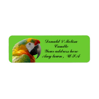 PARROT RETURN ADDRESS LABEL