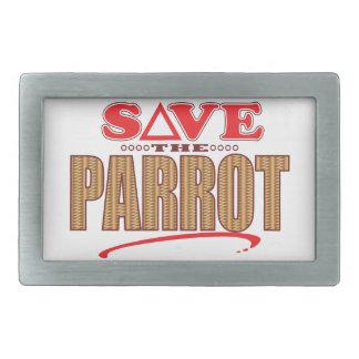 Parrot Save Rectangular Belt Buckles