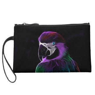 Parrot Suede Wristlet