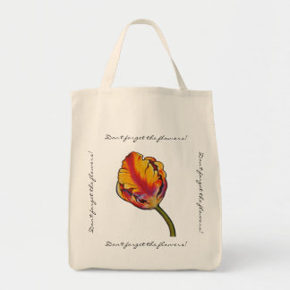 Parrot Tulip Grocery Tote Bag