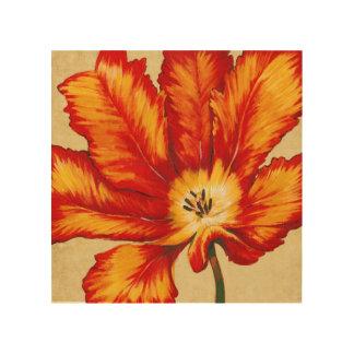 Parrot Tulip II Wood Print