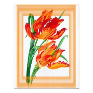 Parrot Tulips 11 Cm X 14 Cm Invitation Card