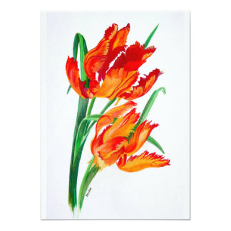 Parrot Tulips 13 Cm X 18 Cm Invitation Card