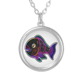 Parrotfish Silver Plated Necklace