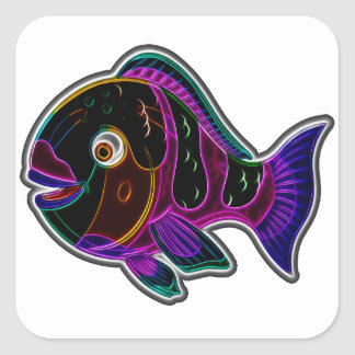Parrotfish Square Sticker