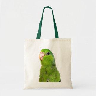 Parrotlet Bird Green Parrotlet Tote Hand Bag Art
